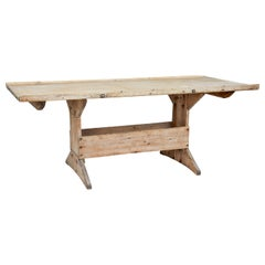 Mid-19th Century Scandinavian Pine Bakers Table