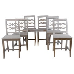 Mid-19th Century Set of 6 Provincial Swedish Dining Chairs