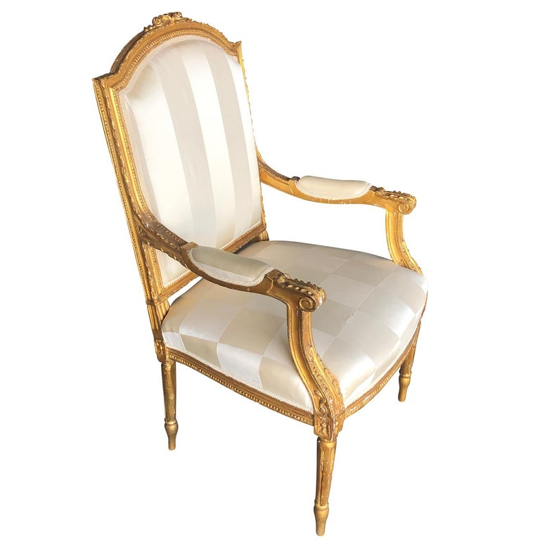 Mid-19th Century Set of Four Napoleon III French Armchairs For Sale 6