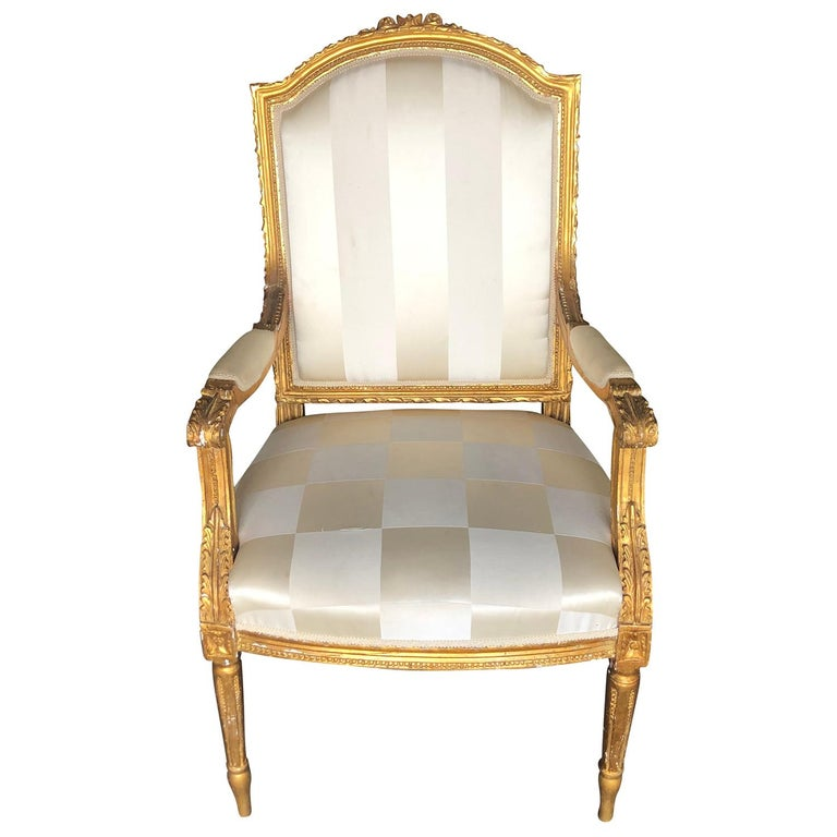 Mid-19th Century Set of Four Napoleon III French Armchairs For Sale 2