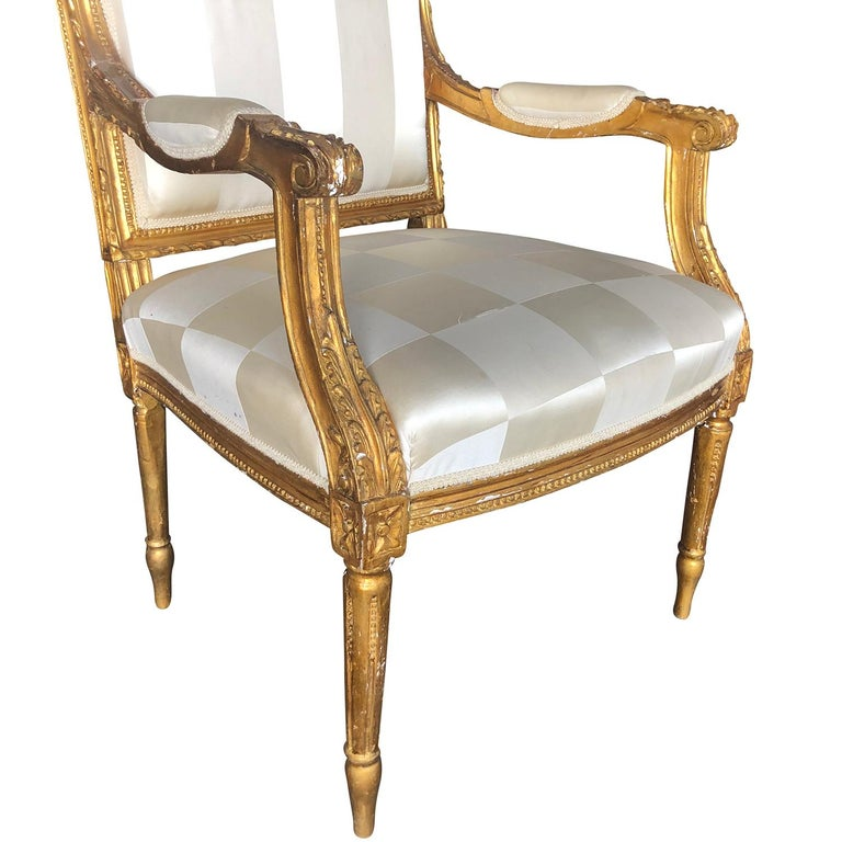 Mid-19th Century Set of Four Napoleon III French Armchairs For Sale 4