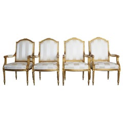 Mid-19th Century Set of French Armchairs
