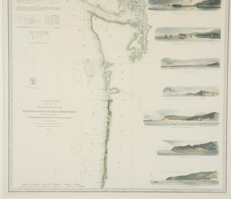 Mid-19th Century Set of Three Charts of the West Coast For Sale 6