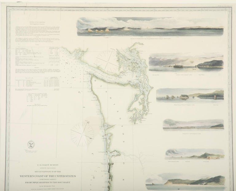 Mid-19th Century Set of Three Charts of the West Coast For Sale 7