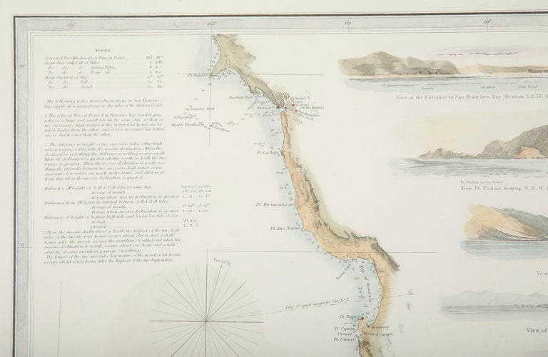 Mid-19th Century Set of Three Charts of the West Coast For Sale 12