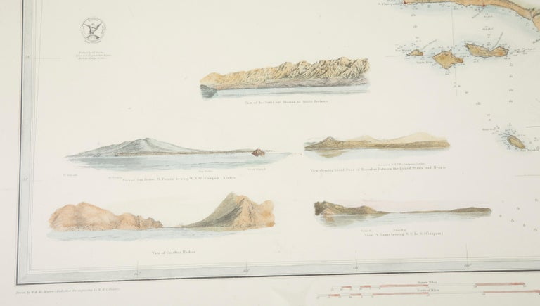 Mid-19th Century Set of Three Charts of the West Coast For Sale 13