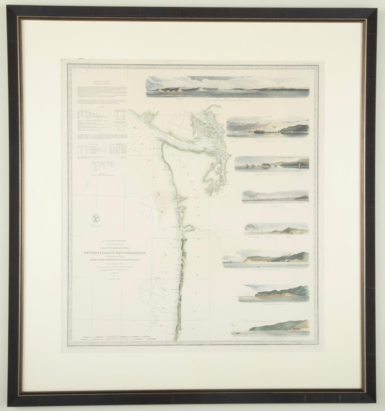 Mid-19th Century Set of Three Charts of the West Coast For Sale 4
