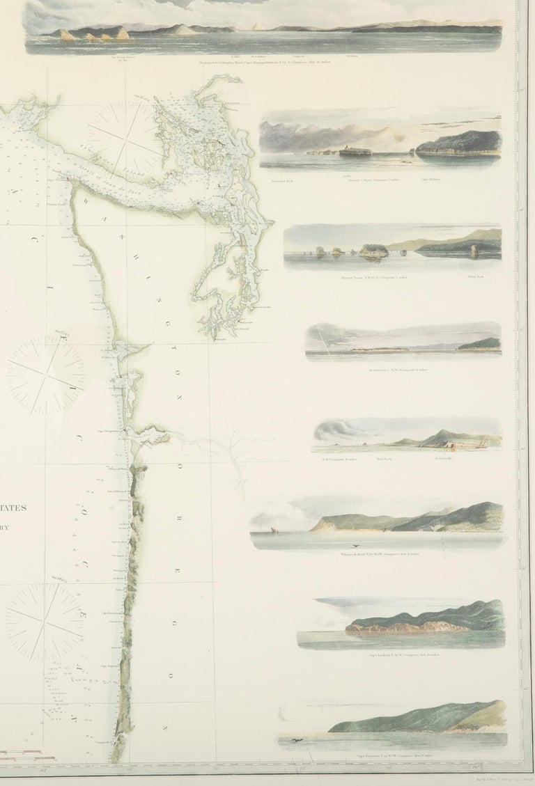 Mid-19th Century Set of Three Charts of the West Coast For Sale 5