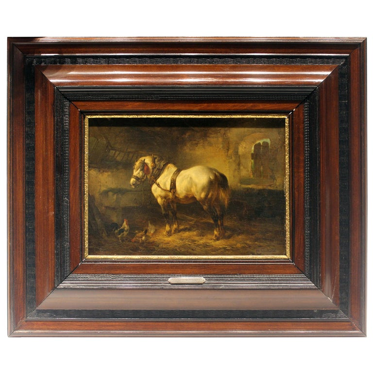 Mid-19th Century Signed Dutch Painting For Sale