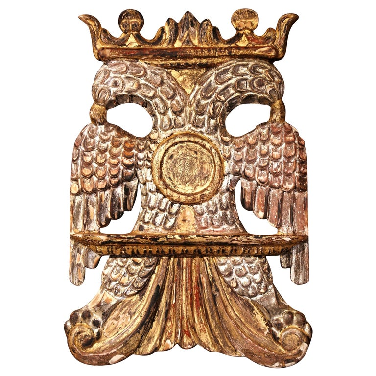 Mid-19th Century Spanish Carved Giltwood and Silver Book Stand Holder For Sale