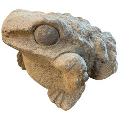 Mid-19th Century Stone Garden Frog