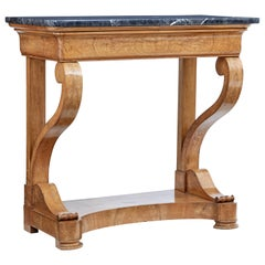 Mid-19th Century Swedish Elm Marble-Top Console Table