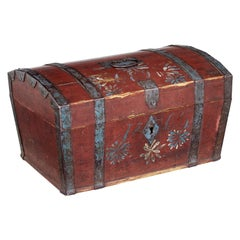 Mid-19th Century Swedish Pine Painted Box