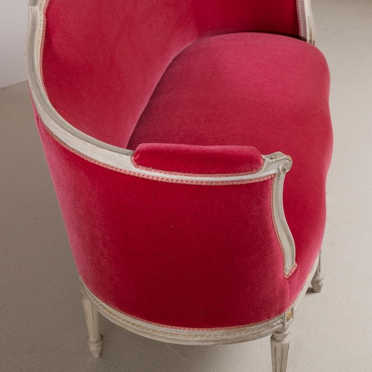 Wood Mid-19th Century Swedish Rococo Style Sofa For Sale