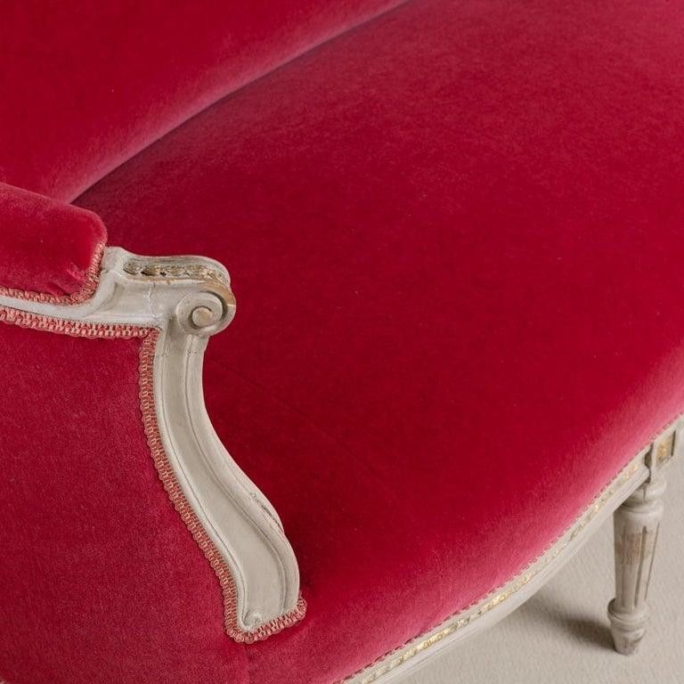 Mid-19th Century Swedish Rococo Style Sofa For Sale 1