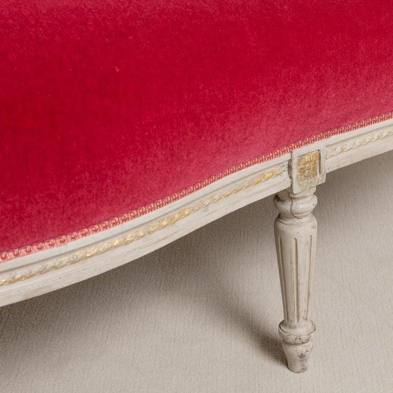 Mid-19th Century Swedish Rococo Style Sofa For Sale 2
