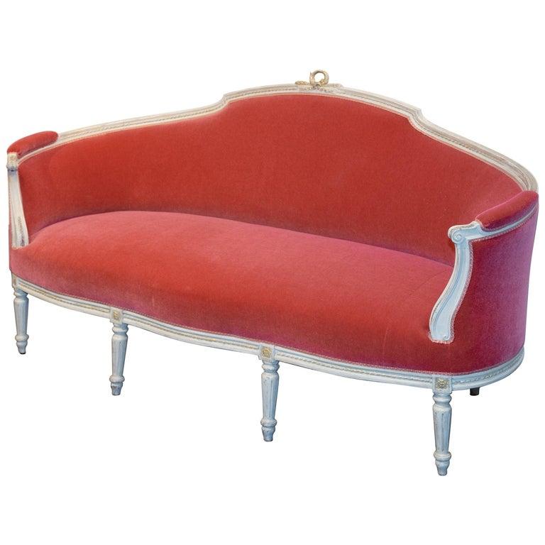 Mid-19th Century Swedish Rococo Style Sofa For Sale