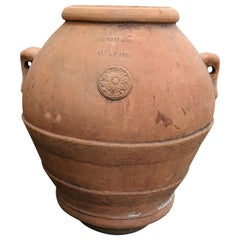 Mid-19th Century Terracotta Urn from Portugal