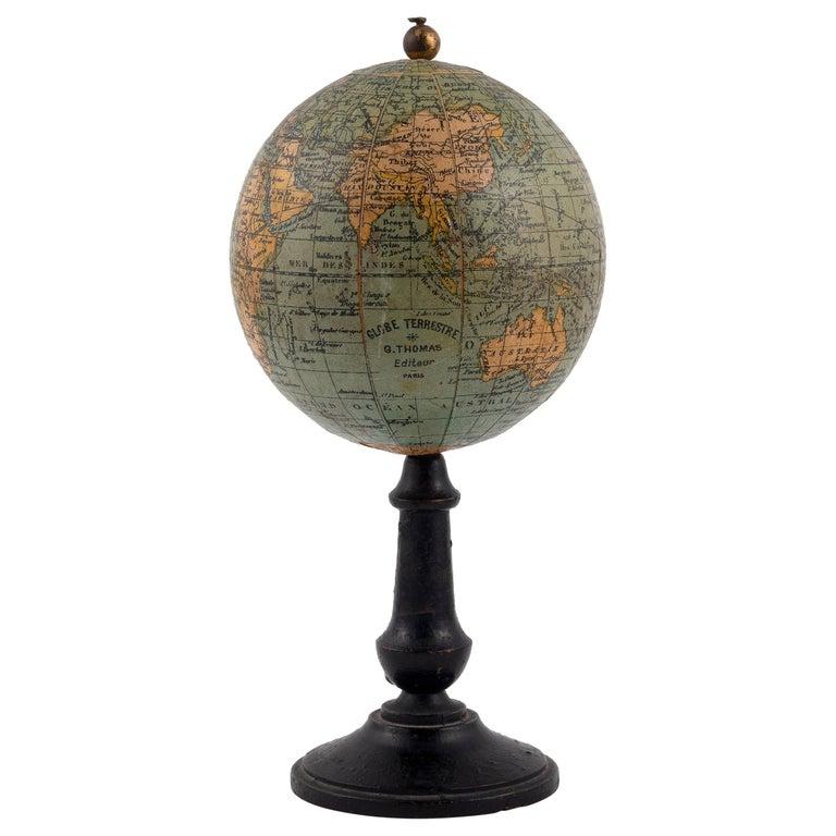 Mid-19th Century Thomas Terrestrial Small Globe For Sale