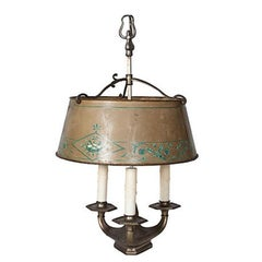 Mid-19th Century Tole Bouillotte Candlestick Lamp from France