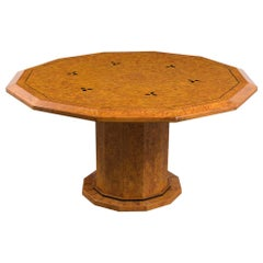 Mid 19th Century Syrian Burled Center Table