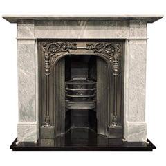 Mid-19th Century Variated  Bardigilo Marble Fireplace Surround