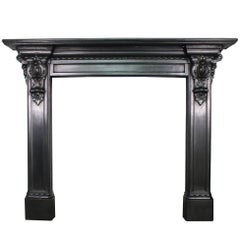 Mid-19th Century Victorian Cast Iron Fireplace Surround