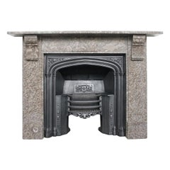 Mid-19th Century Victorian Derbyshire Limestone Fireplace Surround