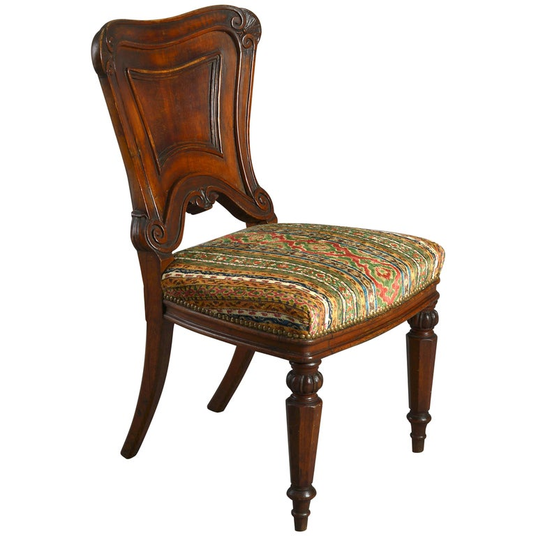Mid-19th Century Victorian Period Oak Side Chair For Sale