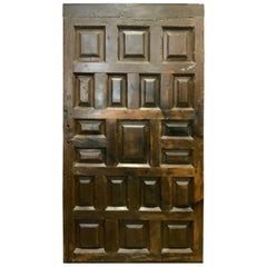 Mid-19th Century Walnut Door from Spain
