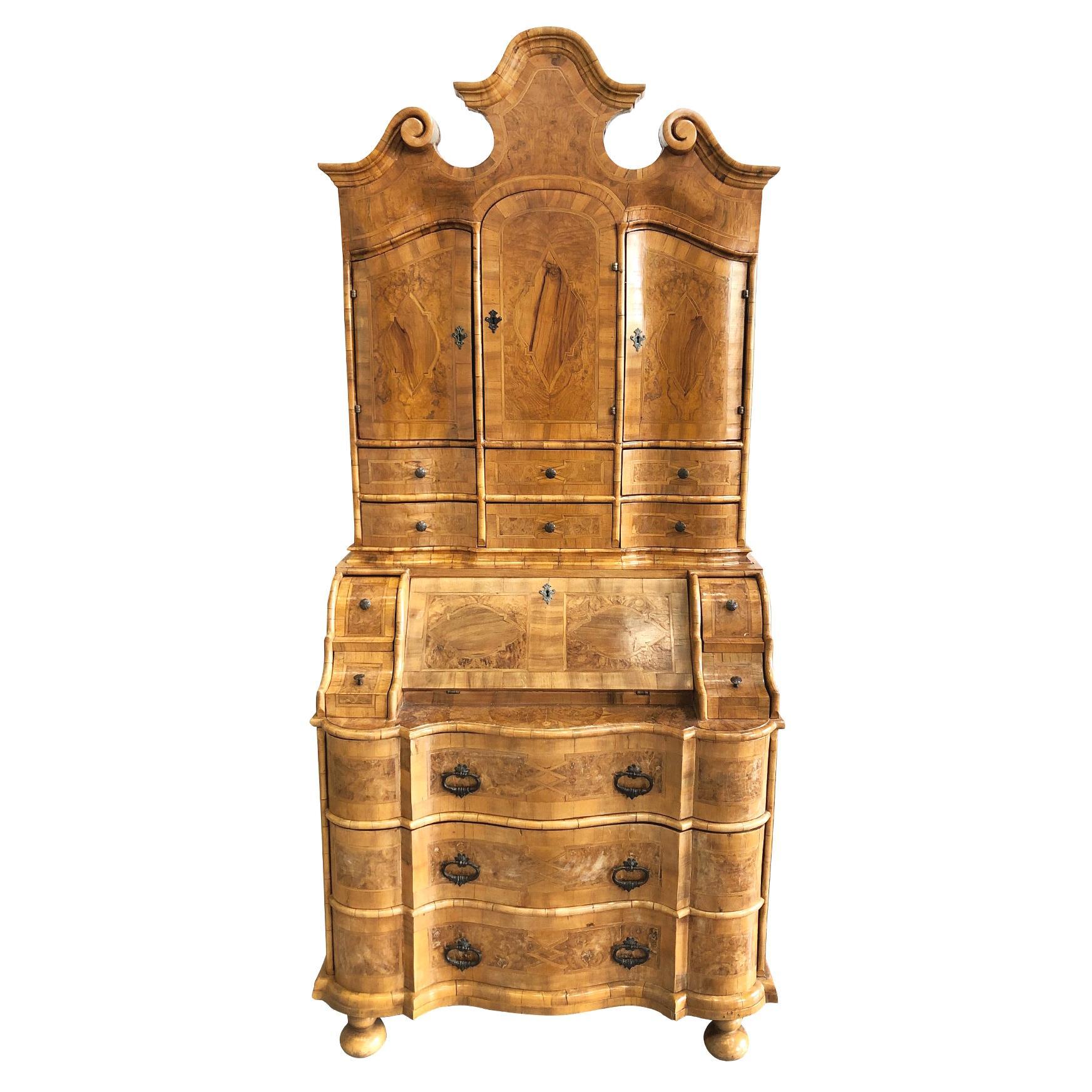 Mid-19th Century Walnut Secretary Cabinet