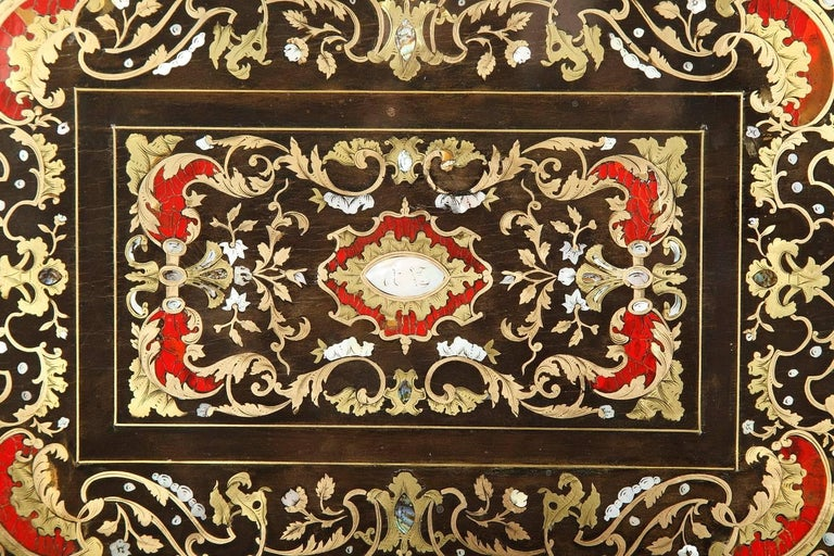 Mid-19th Century Wooden Coffer Inlaid with Mother-of-Pearl For Sale 1