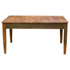 Mid 19th/Early 20th C. Primitive Farmhouse Table, c.1850-1920