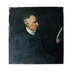 Mid-19th Century English School Oil on Canvas Portrait of a Gentleman, Ex Frink