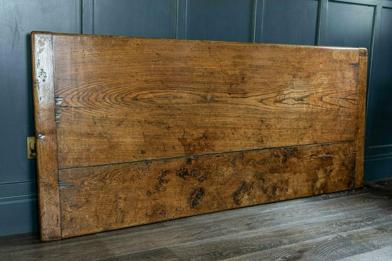 Mid-19th Century French 2 Plank Oak Trestle Table For Sale 10