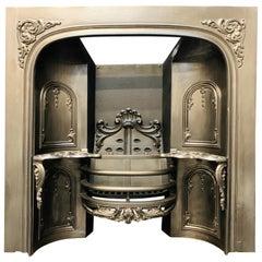 Mid-19th Century Victorian Scottish Carron Hob Grate Cast Iron Fireplace Insert