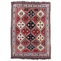 Mid-20th Century 100% Wool Luir Rug, circa 1950