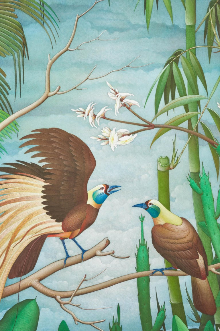 Chinese ink and acrylic paint on canvas. Artist: I. Dewa made Putra Yasa.