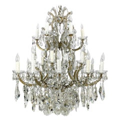 Mid 20th C Marie Therese Crystal Chandelier 3 Tier 24 Lights from Beverly Hills