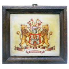 Mid-20th Century the City Arms of Hannover Hand Painted