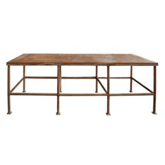 Mid-20th Century American Industrial Work Table