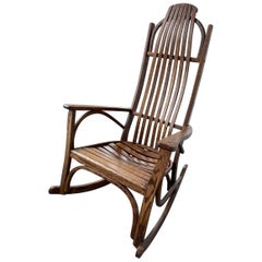 Mid-20th Century American Oak Rocker