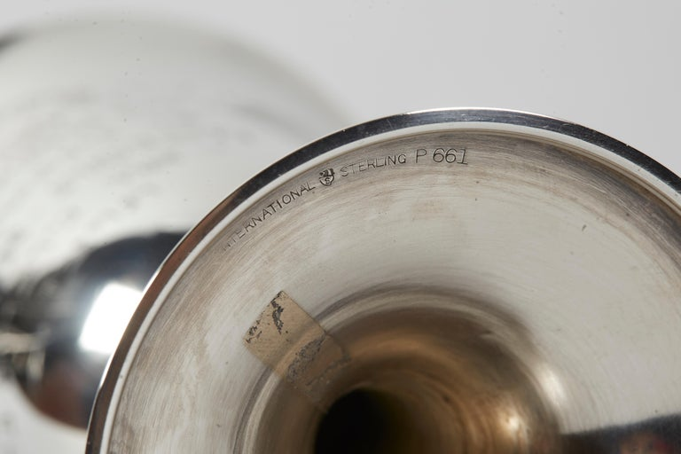 Mid-20th Century American Sterling Silver Kiddush Goblet For Sale 1