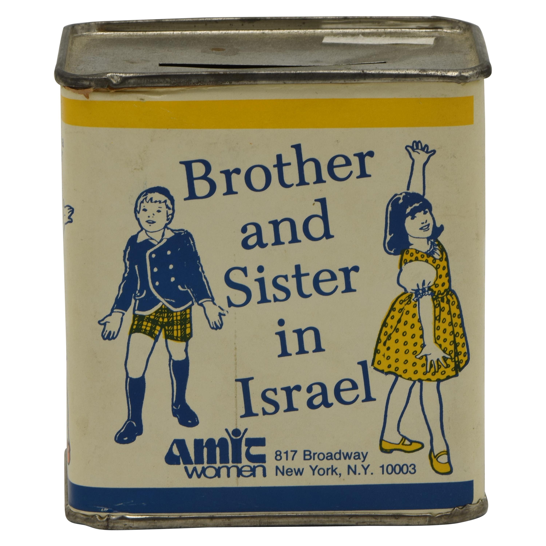 Mid-20th Century American Tin Charity Box