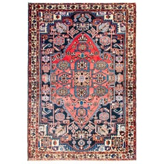 Mid-20th Century Antique Mazlaghan Rug