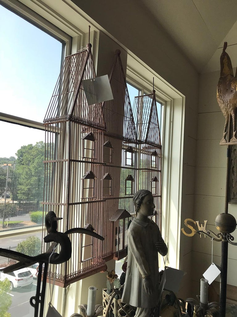 Mid-20th Century Architectural Iron Wall Sculpture with Pink Finish For Sale 9