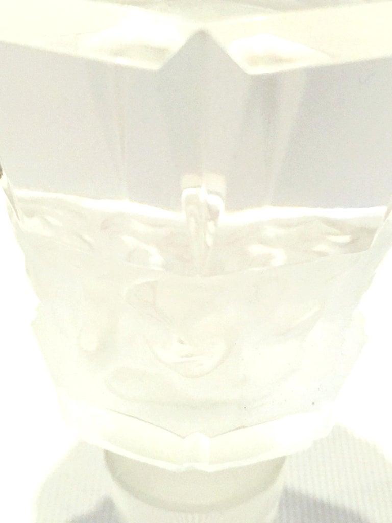 Mid-20th Century Art Deco Cut Crystal Liquor Decanter by, Frantisek Halama For Sale 6