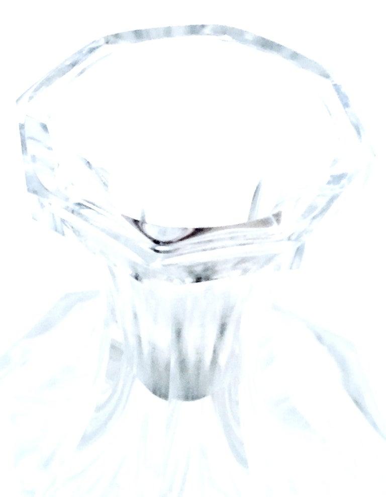 Mid-20th Century Art Deco Cut Crystal Liquor Decanter by, Frantisek Halama For Sale 7