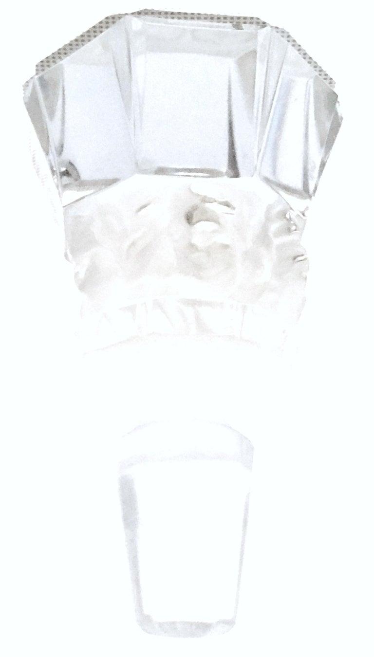 Mid-20th Century Art Deco Cut Crystal Liquor Decanter by, Frantisek Halama For Sale 5