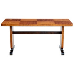 Mid-20th Century Art Deco Influenced Inlaid Birch Coffee Table